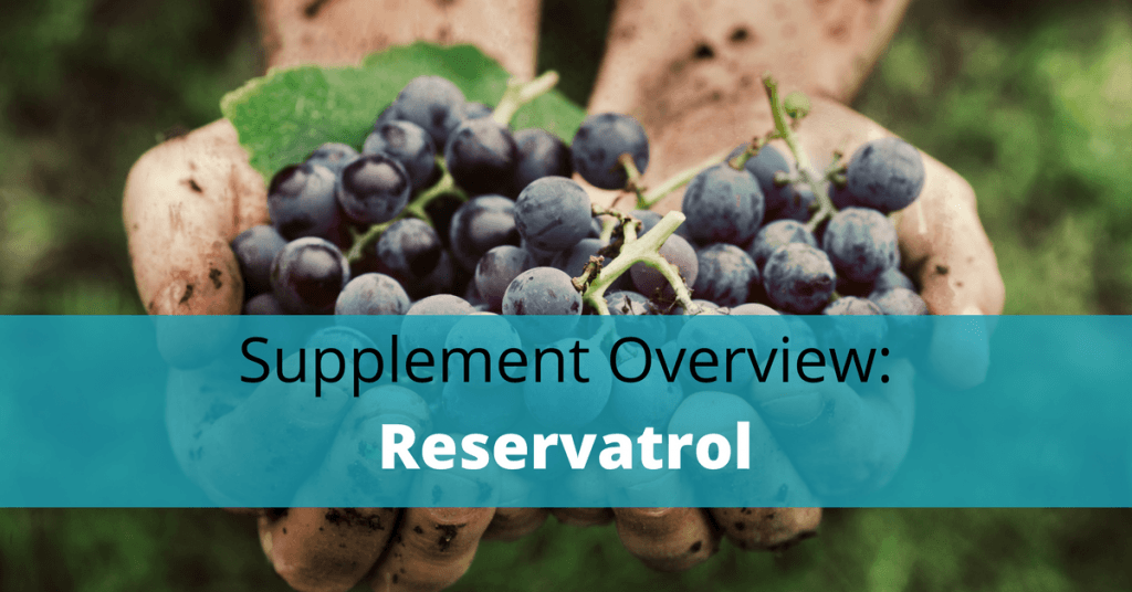 grapes with reservatrol text overlay